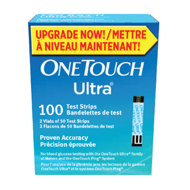 OneTouch Ultra Glucose Test Strips Blue