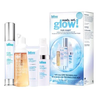 Bliss Triple Oxygen Ready Set Glow Skin Care Set