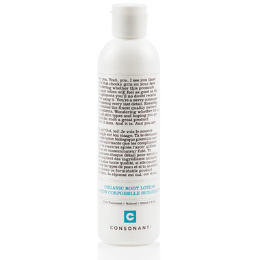 Consonant Organic Body Lotion Pure Unscented
