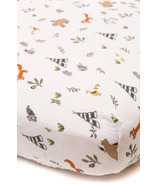 Little Unicorn Cotton Muslin Fitted Sheet Forest Friends