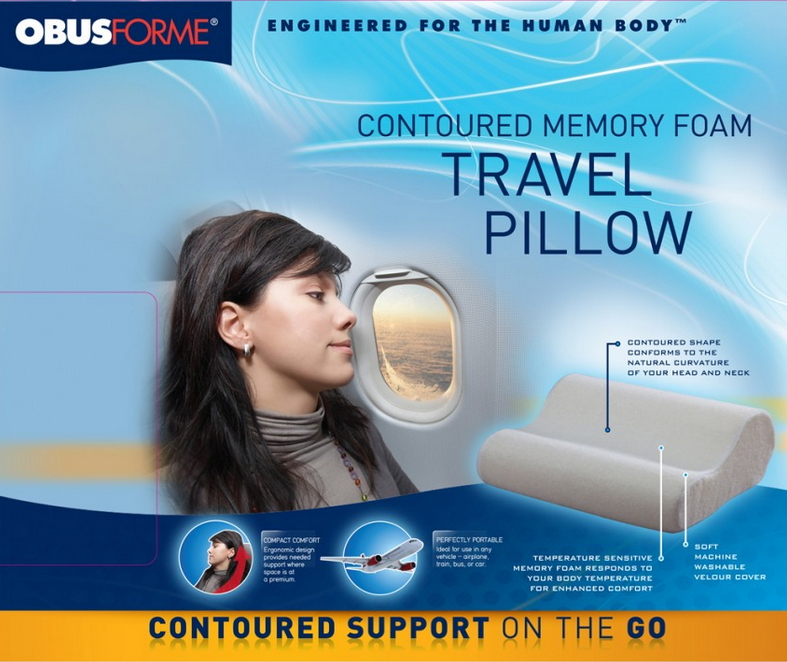 Buy Obus Forme Mini Contoured Travel Pillow At Well Ca