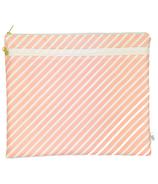 Logan and Lenora Waterproof Wet & Dry Portfolio Blush Stripe