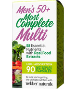 Webber Naturals Men's 50+ Most Complete Multi