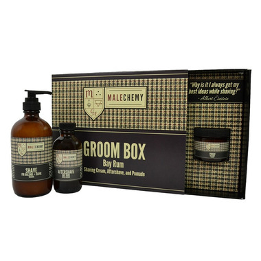 Malechemy by Cocoon Apothecary Bay Rum Groom Box