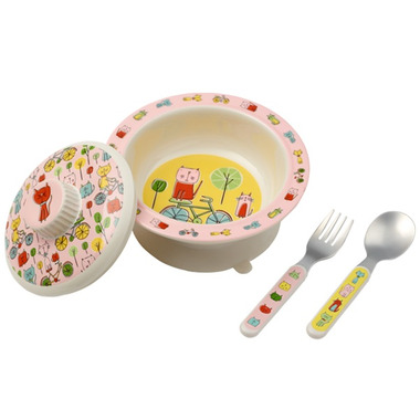 Sugarbooger Suction Bowl Set Go Kitty Go