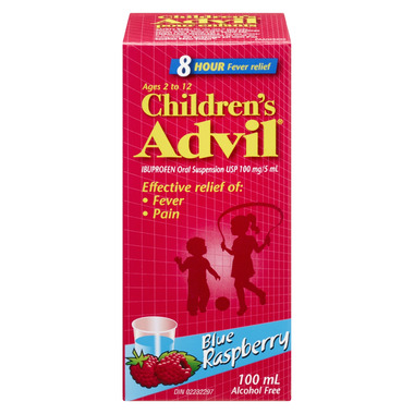 Advil Children\'s Oral Suspension Blue Raspberry
