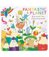International Arrivals Fantastic Planet Wood Free Colored Pencils