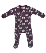 ZippyJamz Organic Cotton Sleeper Quiet Fox Purple