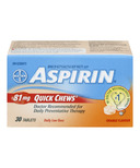 Aspirin 81mg Daily Low Dose Quick Chews