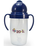 Zoli BOT 2.0 Straw Sippy Cup Navy