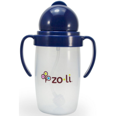 Zoli BOT 2.0 Straw Sippy Cup Navy
