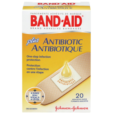Band aid with antibiotics