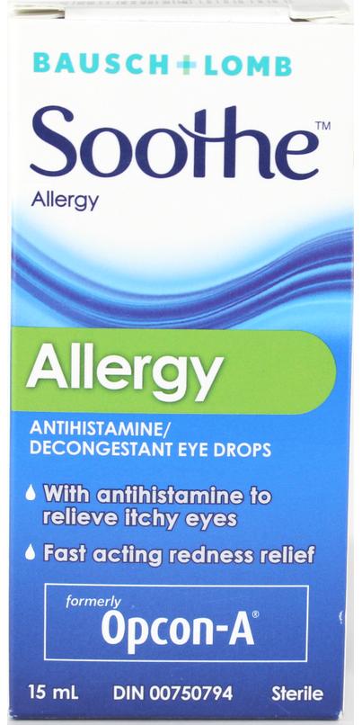 Reaction to eye drops