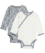 Skip Hop ABC-123 Side-Snap Long Sleeve Bodysuit Set Grey