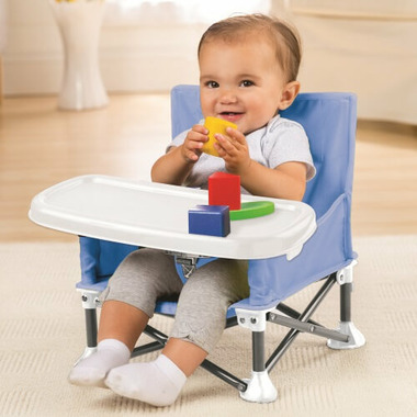 Summer Infant Pop n Sit Portable Booster Seat Dusty Blue