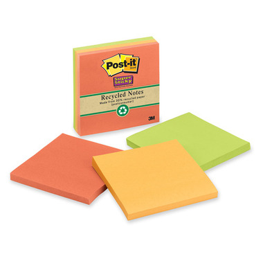 3M Post-it Super Sticky Recycled Natures Hues Pads