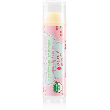 100% Pure Organic Lip Balm Cherry