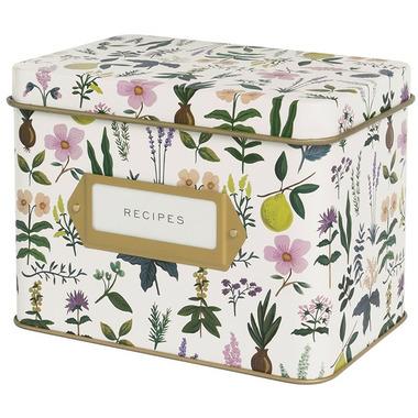 Rifle Paper Co. Herb Garden Tin Recipe Box
