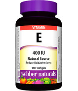 Webber Naturals Natural Source Vitamin E Softgels