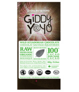 Giddy Yoyo Organic Raw Mint Hundo 100% Dark Chocolate Bar