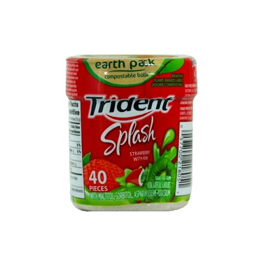 Trident Splash Strawberry With Kiwi Sugar-Free Gum Bottle