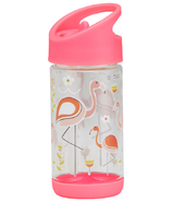 Sugarbooger Flip and Sip Clear Tritan Bottle Flamingo