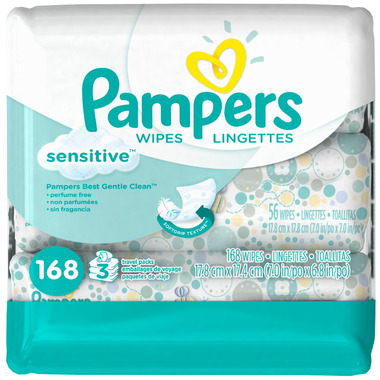 Pampers Sensitive Wipes Travel Packs