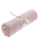 Beba Bean Pink Seed Stitch Blanket