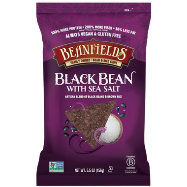 Beanfields Black Bean with Sea Salt Bean and Rice Chips