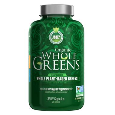 Ergogenics Organics Whole Greens Capsules