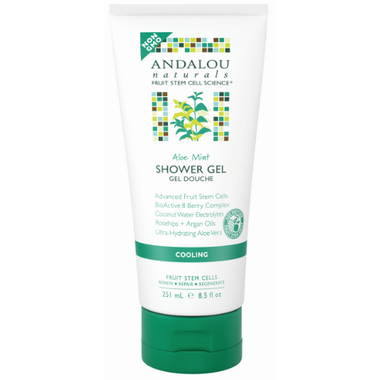 Buy Andalou Naturals Aloe Mint Cooling Shower Gel 251 Ml