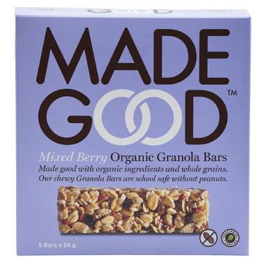 MadeGood Mixed Berry Organic Granola Bars