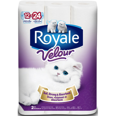 Royale Velour 2-Ply Bathroom Tissue