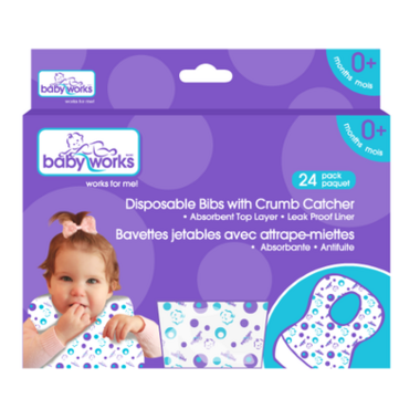 Baby Works Disposable Bibs Value Pack