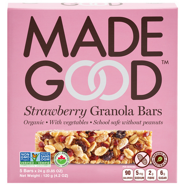 MadeGood Strawberry Granola Bars