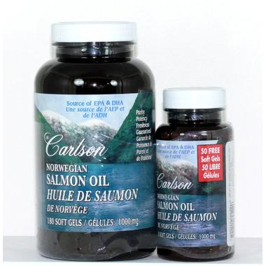 Buy carlson norwegian salmon oil 180 50 bonus softgels for Carlson norwegian fish oil