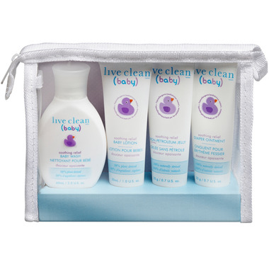Live Clean Baby Soothing Relief Diaper Bag Essential Kit