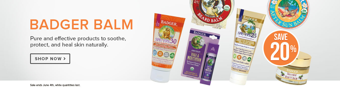 Save 20% on Badger Balm