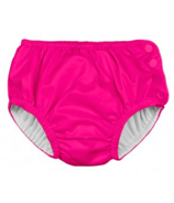 iPlay Snap Reusable Absorbent Swimsuit Diaper Hot Pink