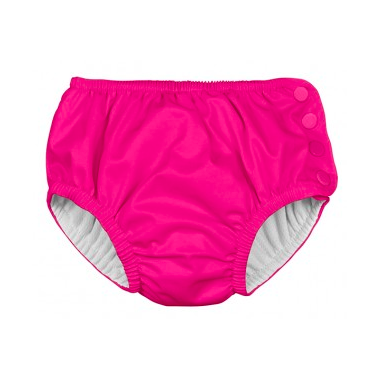 iPlay Snap Reusable Absorbent Swimsuit Diaper Hot Pink