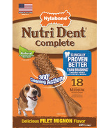 Nutri Dent Complete Dental Chews Filet Mignon Medium Size 18 Pack