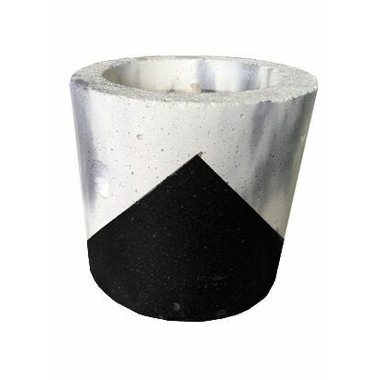 Wax + Fire Co. oz Soy Candle in Marble with Black Concrete Planter
