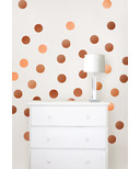 WallPops Metallic Copper Confetti Dots