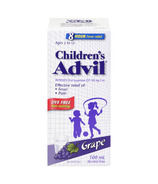 Advil Children's Oral Suspension Dye Free Grape