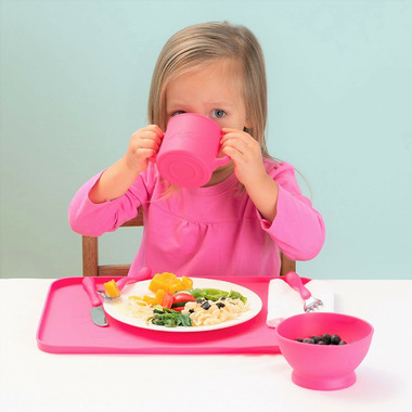 Green Sprout Silicone Learning Cup Pink