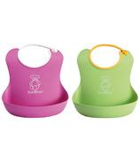 BabyBjorn Soft Bibs Pink & Green