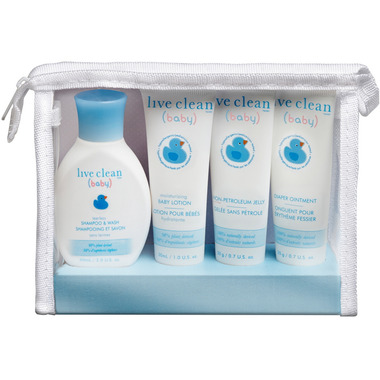 Live Clean Baby Diaper Bag Essential Gift Set