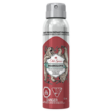 Old Spice Invisible Spray Antiperspirant and Deodorant Bearglove