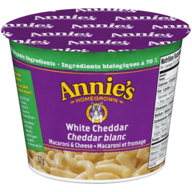 Annie\'s Homegrown Organic White Cheddar Mac & Cheese Cup