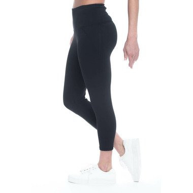 Gaiam Om Hi-Rise Capri Black